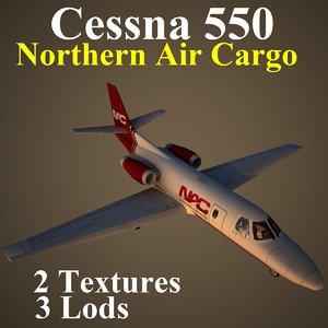 cessna 550 nac 3d model