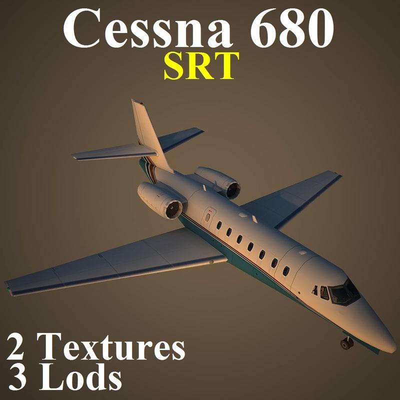 3d cessna 680 srt aircraft model