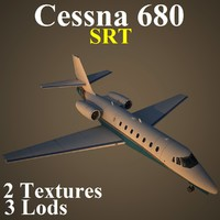 3d cessna 680 srt aircraft model