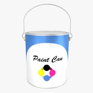 paint bucket 3d 3ds