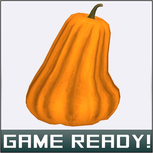 3ds max autumn pumpkin 3