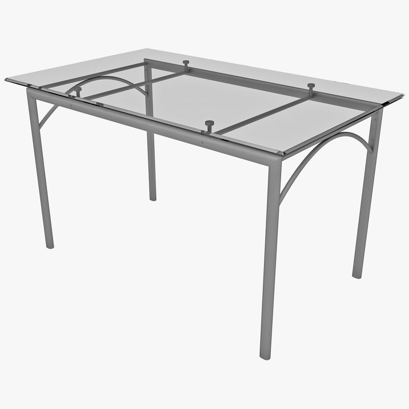 3ds rectangular dining table glass
