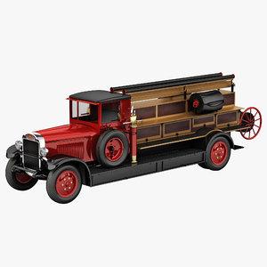 3d model of retro car amo
