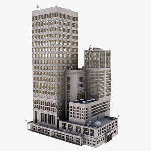 3d building complex skyscraper model