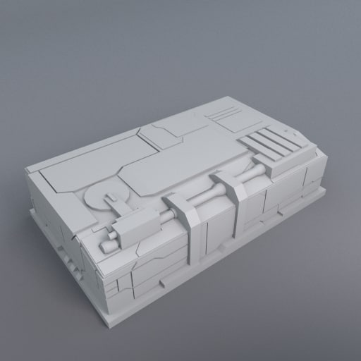 3d greeble structure