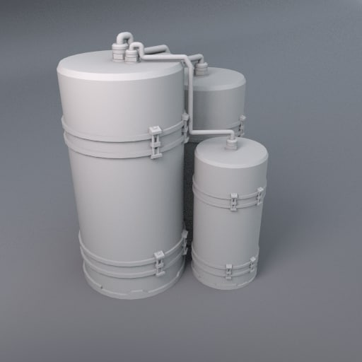 liquid tanks 3d model