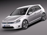 2014 2015 volkswagen golf 3d model