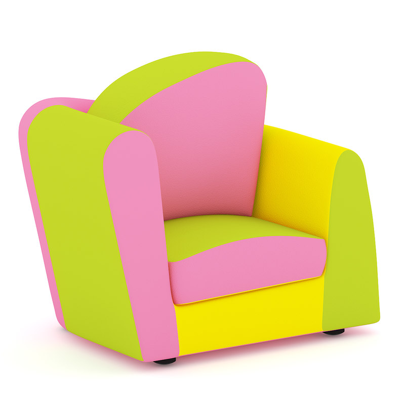 c4d armchair chair colorful