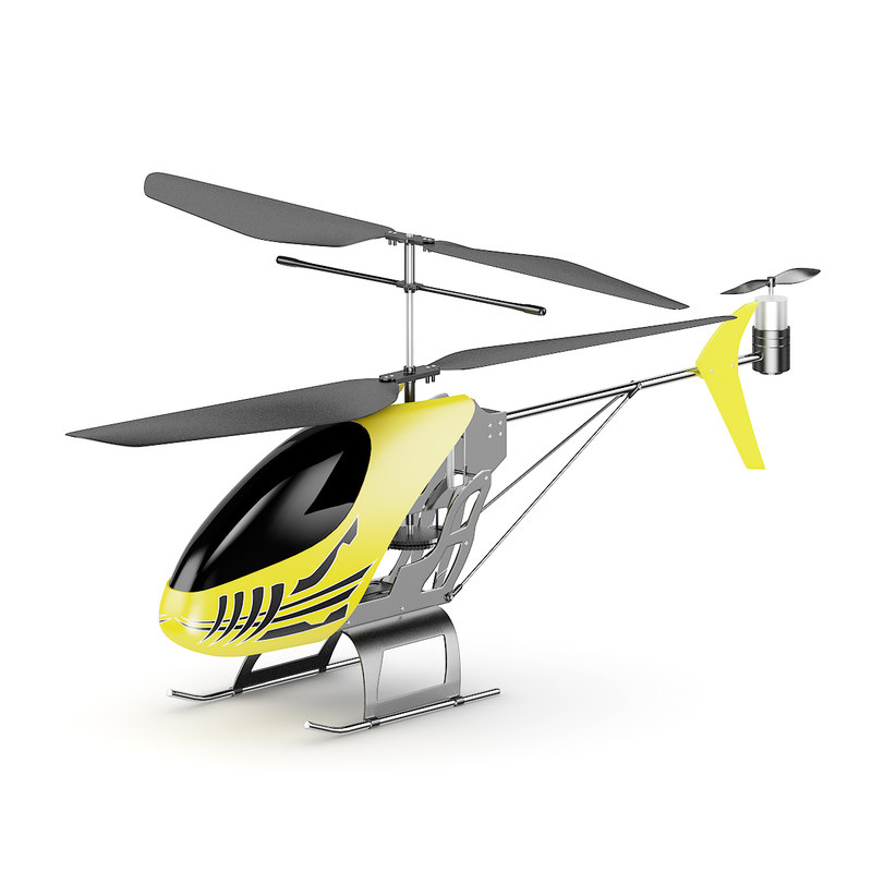 c helicopte 3d model