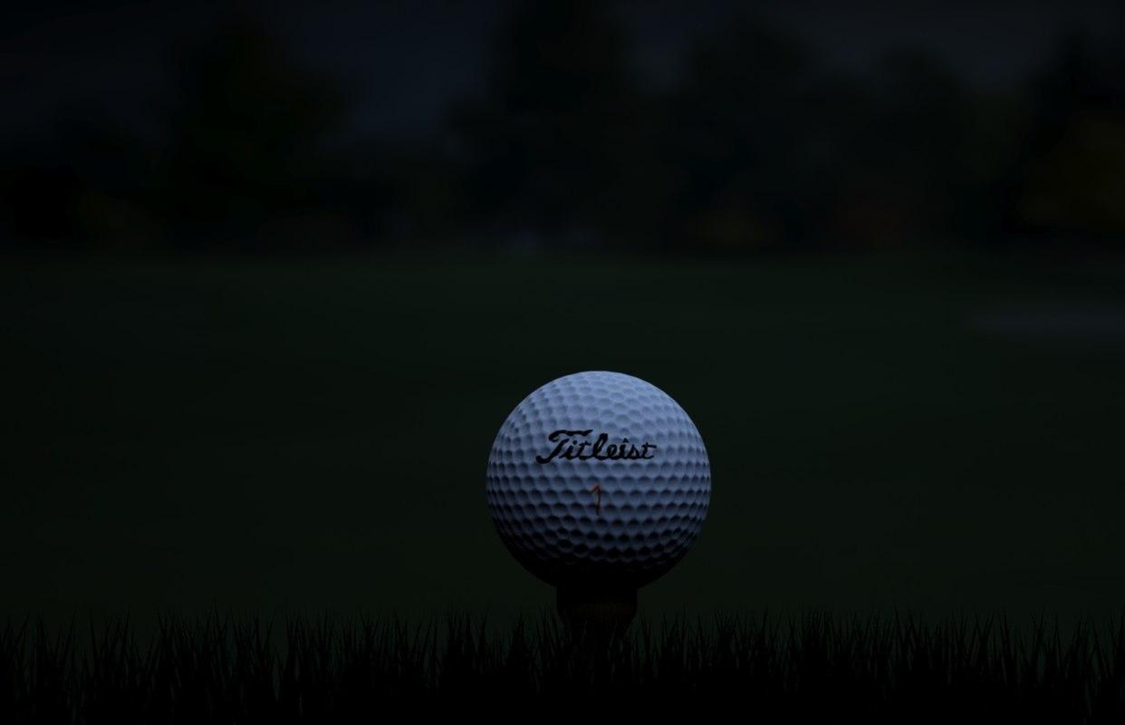 golf ball scene 3d x