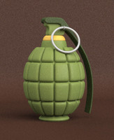 3d grenade weapon frag