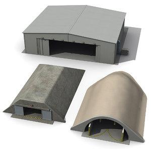 3ds max hardened bunker hangar