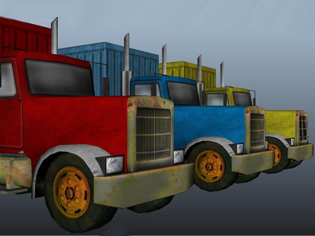 heavy truck obj