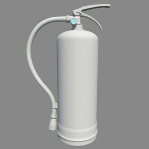 3d model extinguisher modeled
