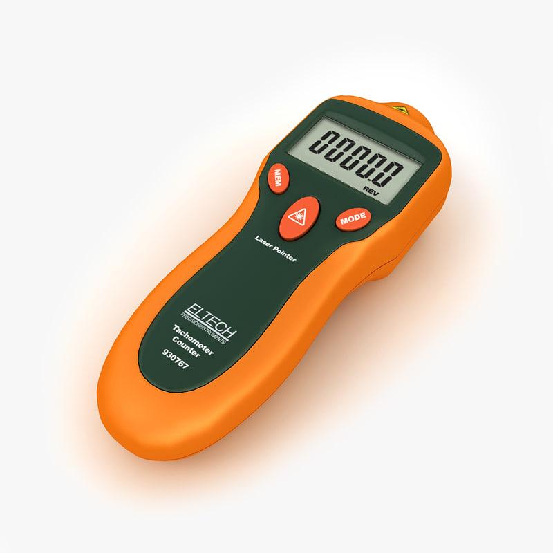 3d laser tachometer