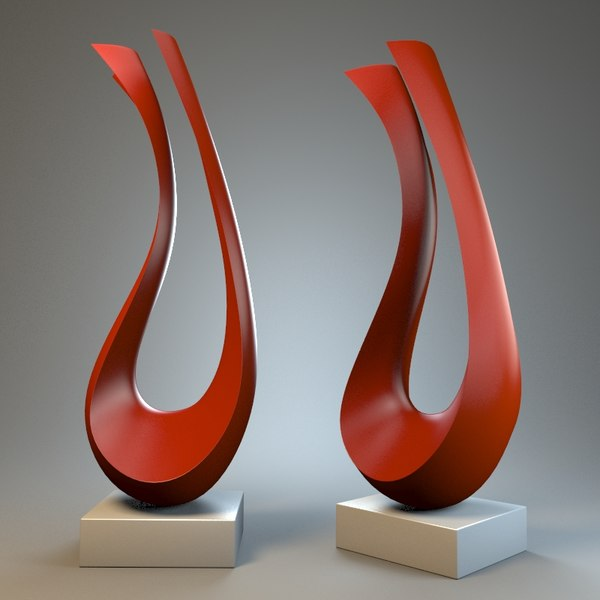 3d model sculpture harp