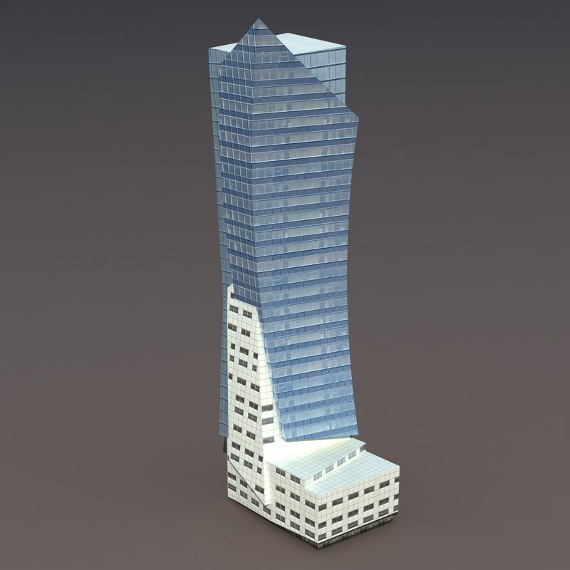 high-rise building 3ds