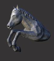 3ds horse statue