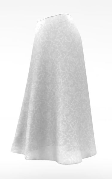 skirt cloth simulations 3d model