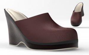 3d model of shoes cloth