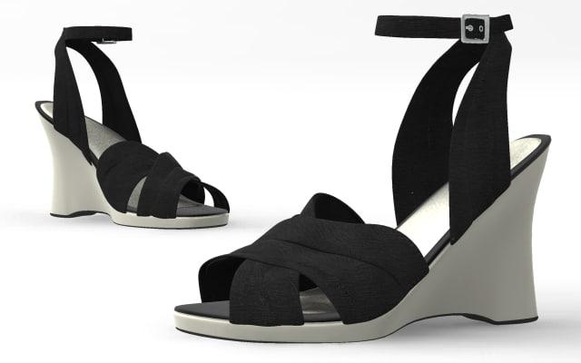 3d model shoes cloth