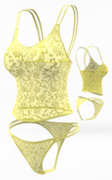 Lingerie set (cloth simulation)