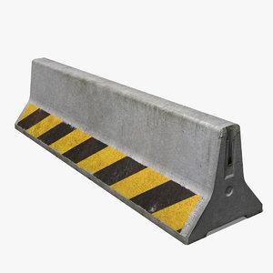 realistic concrete barrier 3d max
