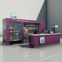 3d mall airport kiosk model