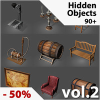 3d model low-poly hidden object games