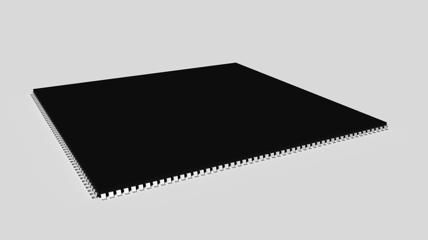 3d model microchip 204 pins