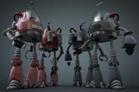 3d robot human