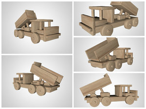 wooden toy car 3d c4d