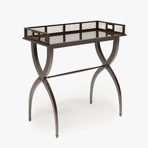 baker furniture drinks tray 3d model
