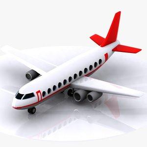 3ds max aircraft toon cartoon