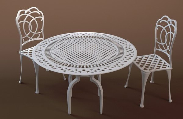 3dsmax bistro table chairs