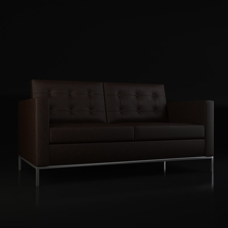 3d model of florence knoll sofa