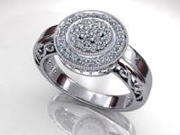Ancient Halo Diamond Ring
