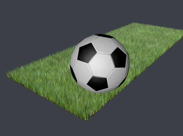 3ds max football soccer ball