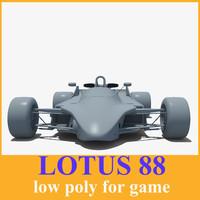 3d model 88 car racing