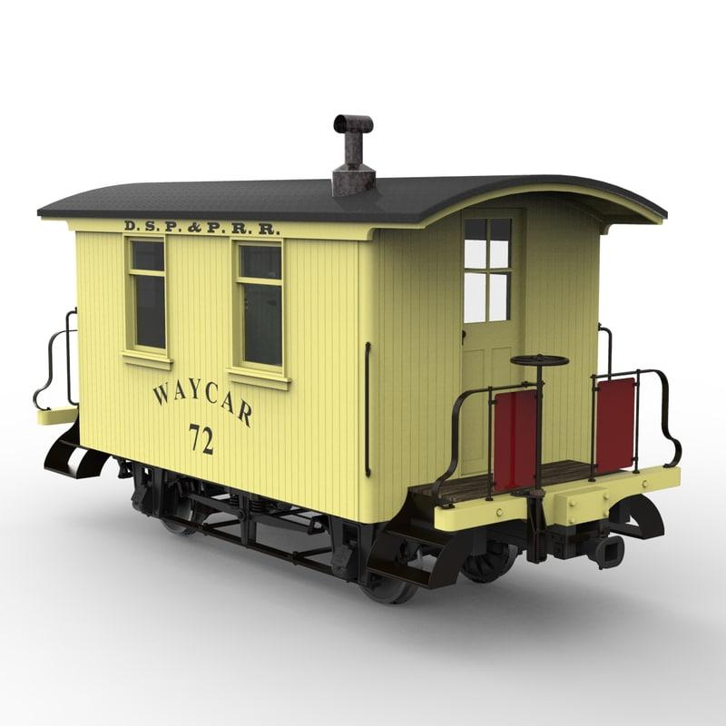 3d narrow gauge caboose 1879