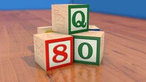 3d classic toy blocks