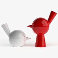 3d model bird vases roche bobois