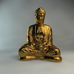 3dsmax sitting buddha