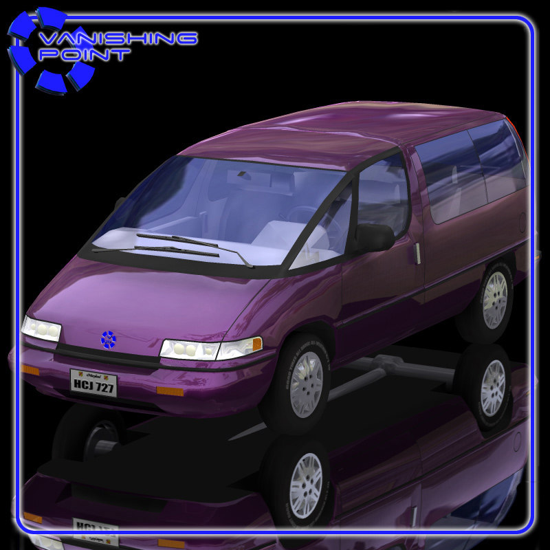 3d family minivan model