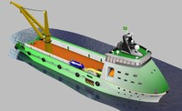 offshore support vessel 3d max