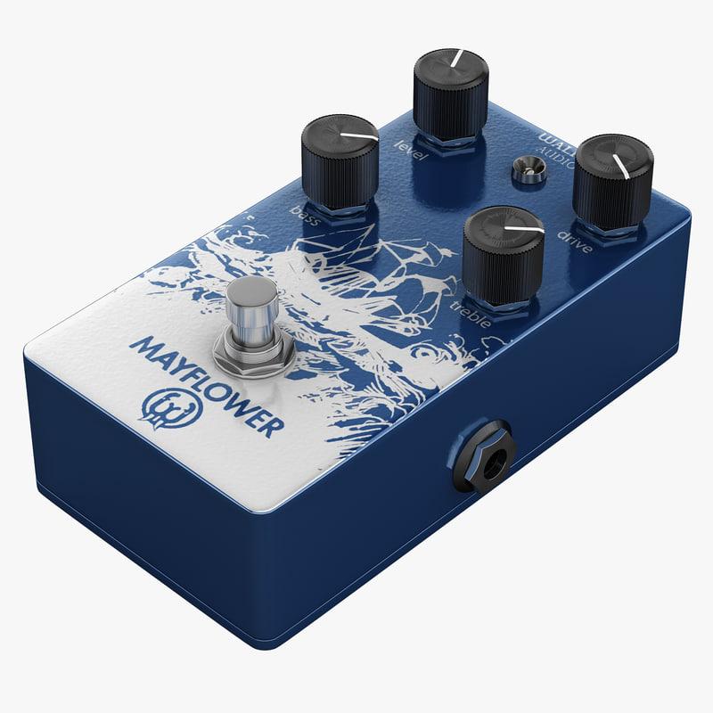 3dsmax guitar overdrive pedal walrus