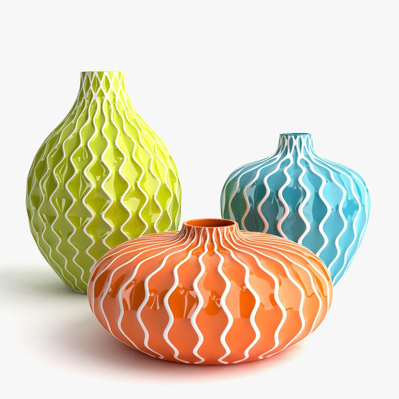 3d model imax agatha ceramic vases