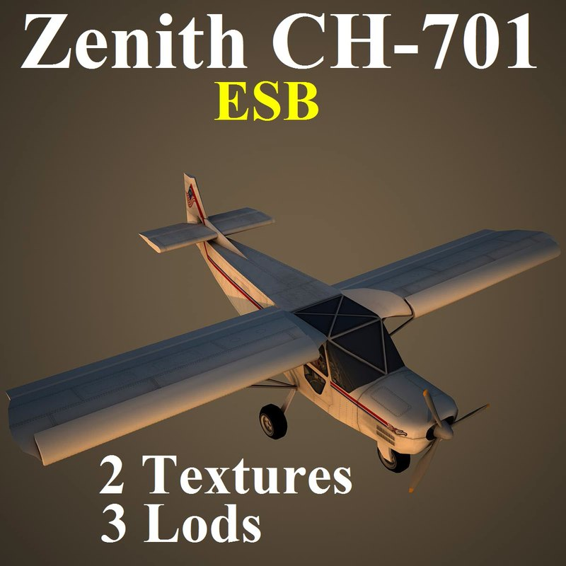3d zenith esb aircraft model