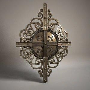 3d model of metal gate