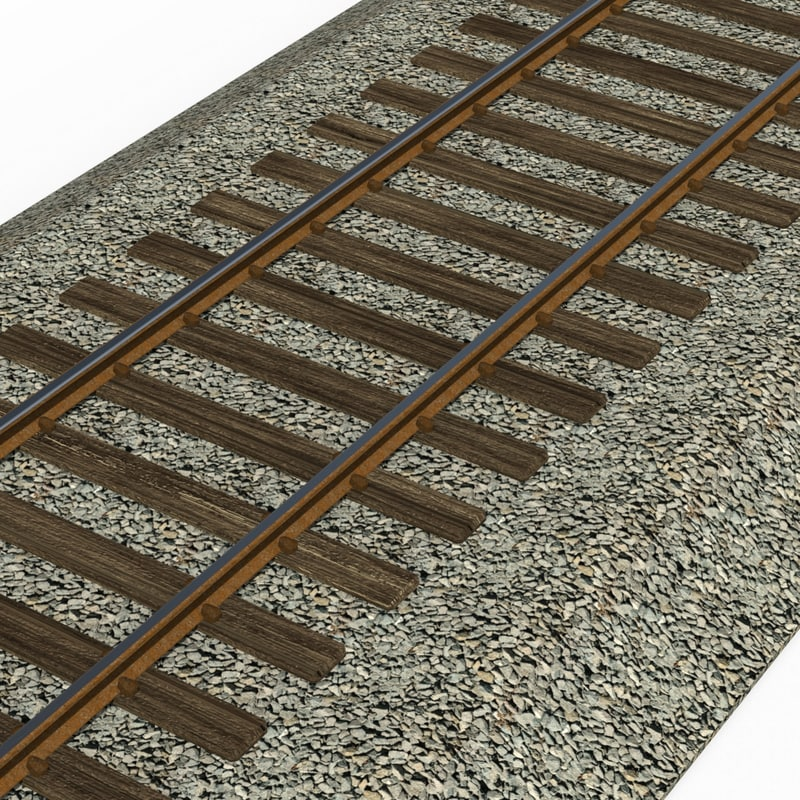 obj narrow gauge railroad track